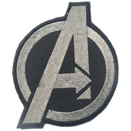 Avengers Velcro Patch - Grey