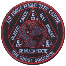 The Ghost Squadron Air Force Flight Test Center Velcro Patch