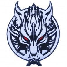 Anger Wolf Army Velcro Patch - White
