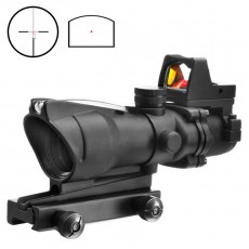 AIM-O ACOG 4x32 Auto Brightness Fiber Optic Red Recticle Scope w/ Mini Red Dot Sight
