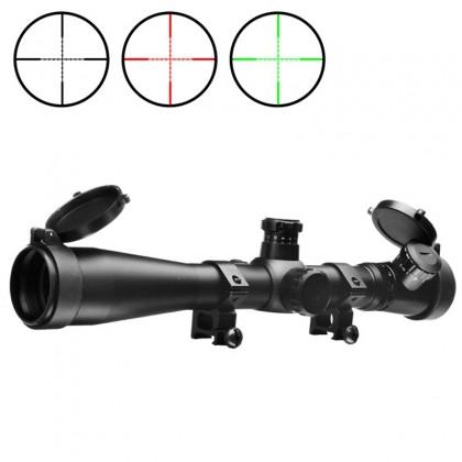 AIM-O 3.5-10x40E-SF Red/Green Illuminated Recticle Scope