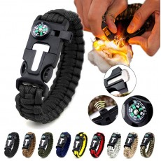 5 in 1 Multifunction Military Emergency Rescue Survival Tool Camping Paracord Bracelet
