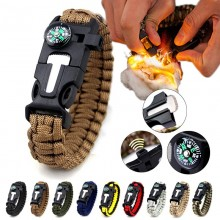 5 in 1 Multifunction Military Emergency Rescue Survival Tool Camping Paracord Bracelet (TA)