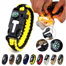 5 in 1 Multifunction Military Emergency Rescue Survival Tool Camping Paracord Bracelet (YL)