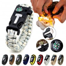 5 in 1 Multifunction Military Emergency Rescue Survival Tool Camping Paracord Bracelet (AC)