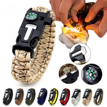5 in 1 Multifunction Military Emergency Rescue Survival Tool Camping Paracord Bracelet (DS)