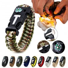 5 in 1 Multifunction Military Emergency Rescue Survival Tool Camping Paracord Bracelet (WL)
