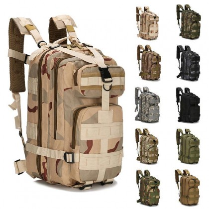 3P Tactical Hiking 30 Litre Backpack - 3 Color Desert