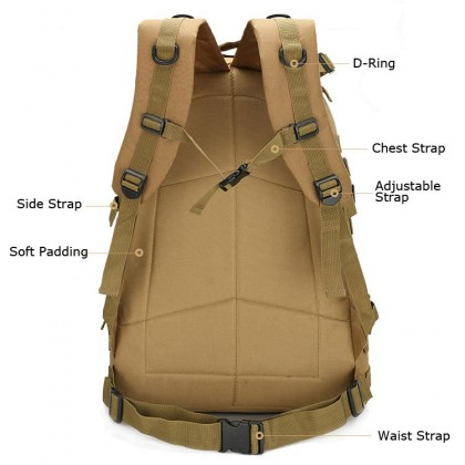 3D Tactical Hiking 40 Litre Backpack(TA)