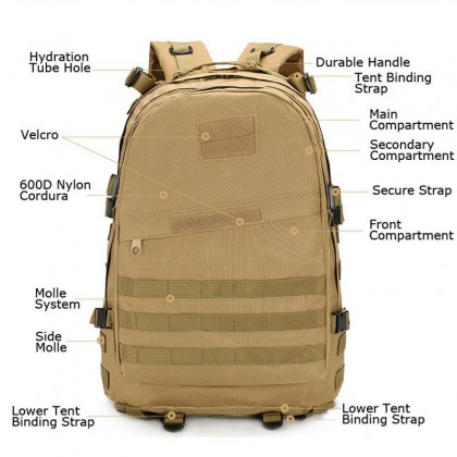 3D Tactical Hiking 40 Litre Backpack(WL)