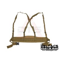 Deltacs Molle Battle Belt with Suspenders - Tan