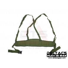 Deltacs Molle Battle Belt with Suspenders - OD Green
