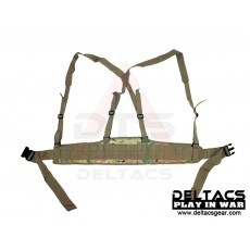 Deltacs Molle Battle Belt with Suspenders - Multicam