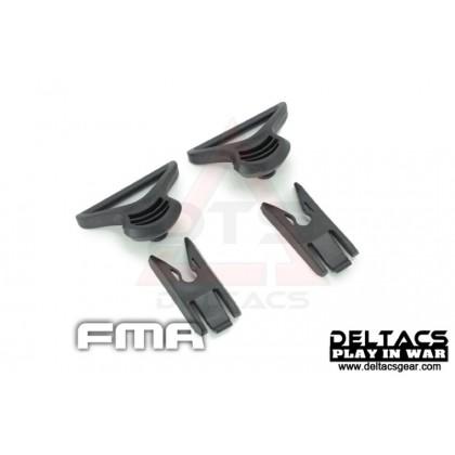 FMA Goggle Swivel Clips (Model C 36mm) - Black
