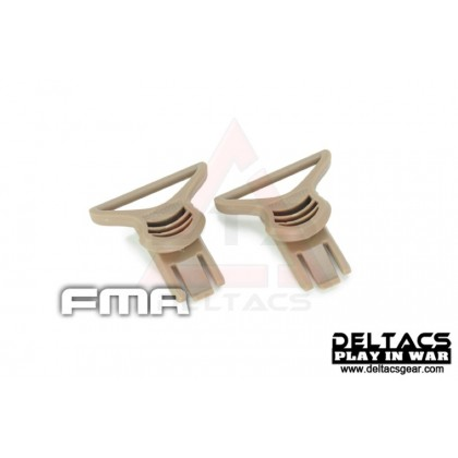 FMA Goggle Swivel Clips (Model C 36mm) - Dark Earth