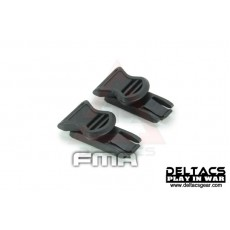 FMA Goggle Swivel Clips (Model B 19mm) - Black