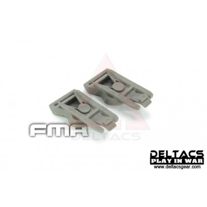 FMA Goggle Swivel Clips (Model B 19mm) - Foliage Green