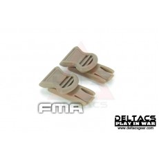 FMA Goggle Swivel Clips (Model B 19mm) - Dark Earth