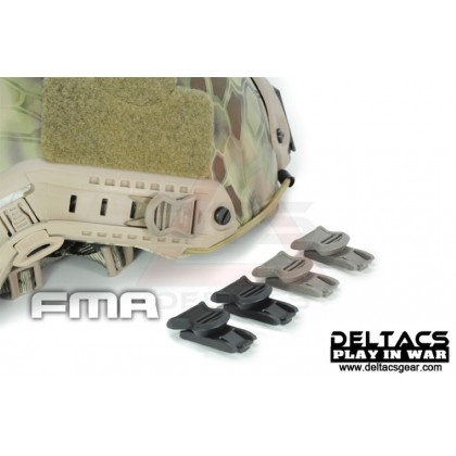 FMA Goggle Swivel Clips (Model B 19mm) - Dark Earth