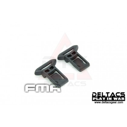 FMA Goggle Swivel Clips Set (Model A 15mm) - Black