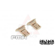 FMA Goggle Swivel Clips Set (Model A 15mm) - Dark Earth