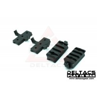 FMA Plastic Mount Set for Helmet Rail - Black