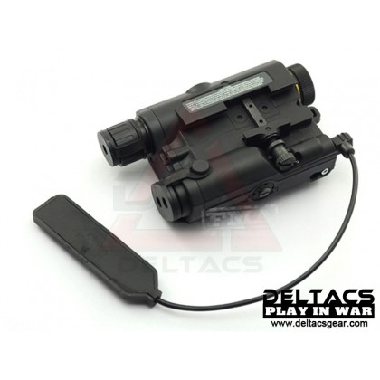 FMA AN/PEQ 15 Red Laser and Flashlight Aiming Device - Black