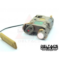FMA AN/PEQ 15 Red Laser and Flashlight Aiming Device - Dark Earth