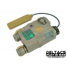 FMA AN/PEQ 15 Green Laser and Flashlight Aiming Device - Dark Earth